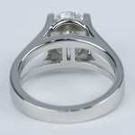 3 Carat Oval Diamond with Split Shank Engagement Ring - small angle 4