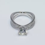 Custom Round Diamond Split Shank Pave Engagement Ring (1.5 carat) - small angle 2