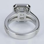 Custom Split Shank Emerald Halo Diamond Engagement Ring - small angle 4