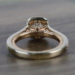 Custom Sunrise Halo 1 Carat Round Diamond Engagement Ring - small angle 4