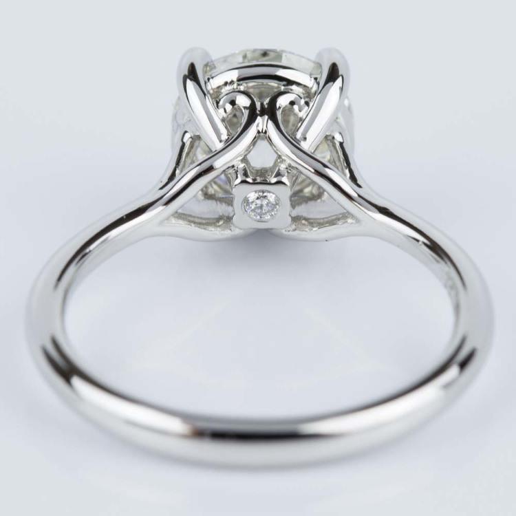 Custom Surprise Diamond Solitaire Engagement Ring in Platinum (2.20 ct.) angle 4