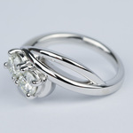 Custom Split Shank Twin Diamond Engagement Ring - small angle 2