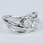Custom Split Shank Twin Diamond Engagement Ring - small angle 3