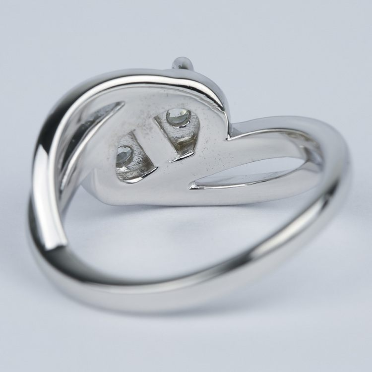 Custom Split Shank Twin Diamond Engagement Ring angle 4