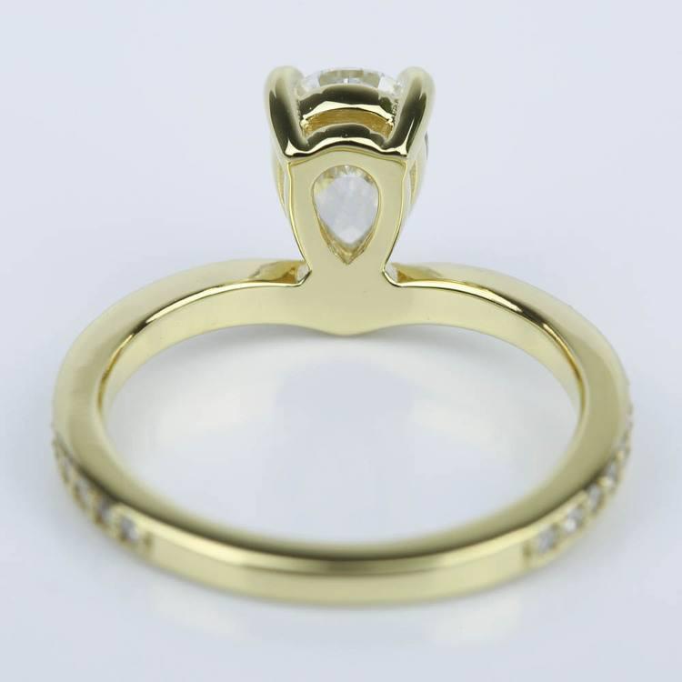 Custom Tear Drop Pear Diamond Engagement Ring (1 ct.) angle 4