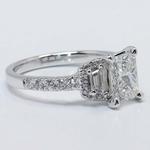 Custom 1.21 Carat Radiant Halo Diamond Engagement Ring - small angle 3