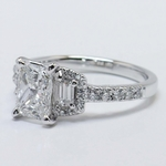Custom 1.21 Carat Radiant Halo Diamond Engagement Ring - small angle 4
