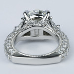 Trapezoid Diamond Engagement Ring with Milgrain Detail (4.50 ct.) - small angle 4