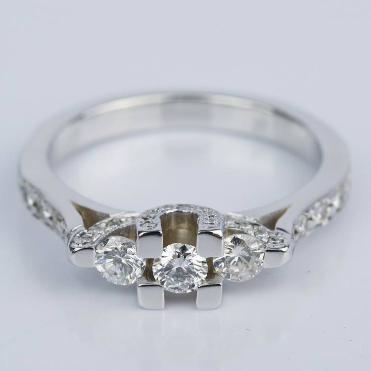 Custom Trellis Diamond Engagement Ring (0.16 ct.)