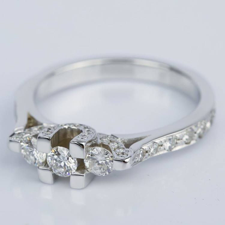 Custom Trellis Diamond Engagement Ring (0.16 ct.) angle 2