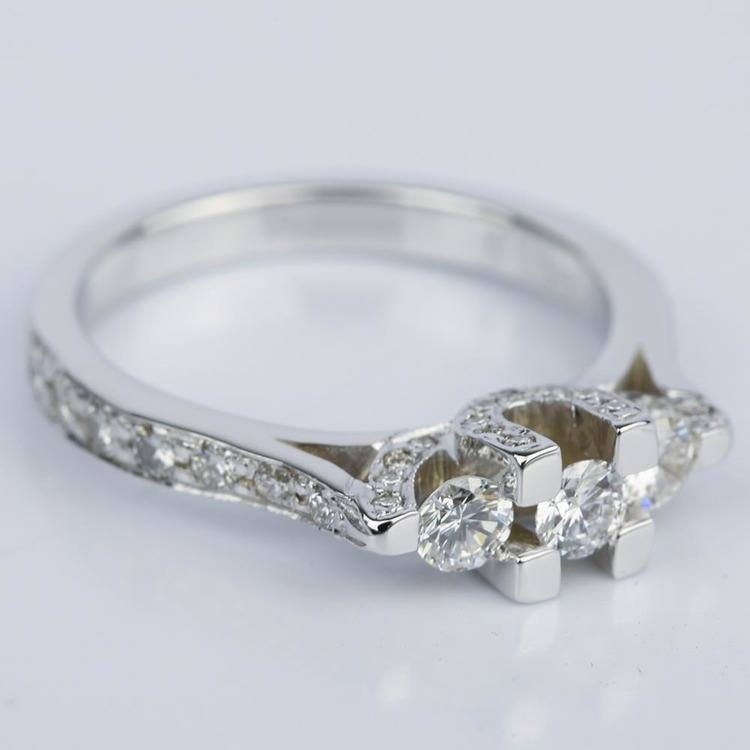 Custom Trellis Diamond Engagement Ring (0.16 ct.) angle 3