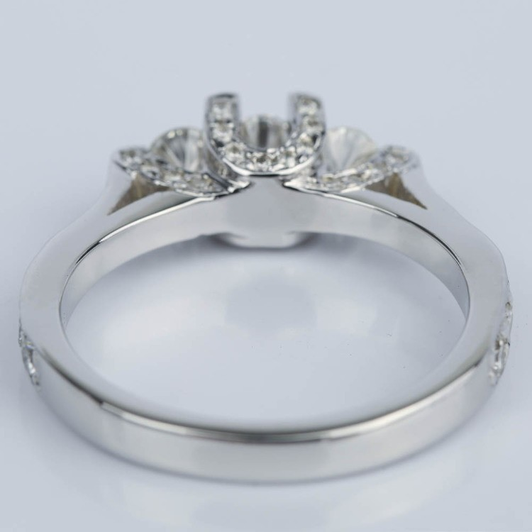 Custom Trellis Diamond Engagement Ring (0.16 ct.) angle 4