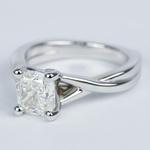 Twisted Split Shank Cushion Diamond Engagement Ring (1 Carat) - small angle 2