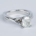 Twisted Split Shank Cushion Diamond Engagement Ring (1 Carat) - small angle 3