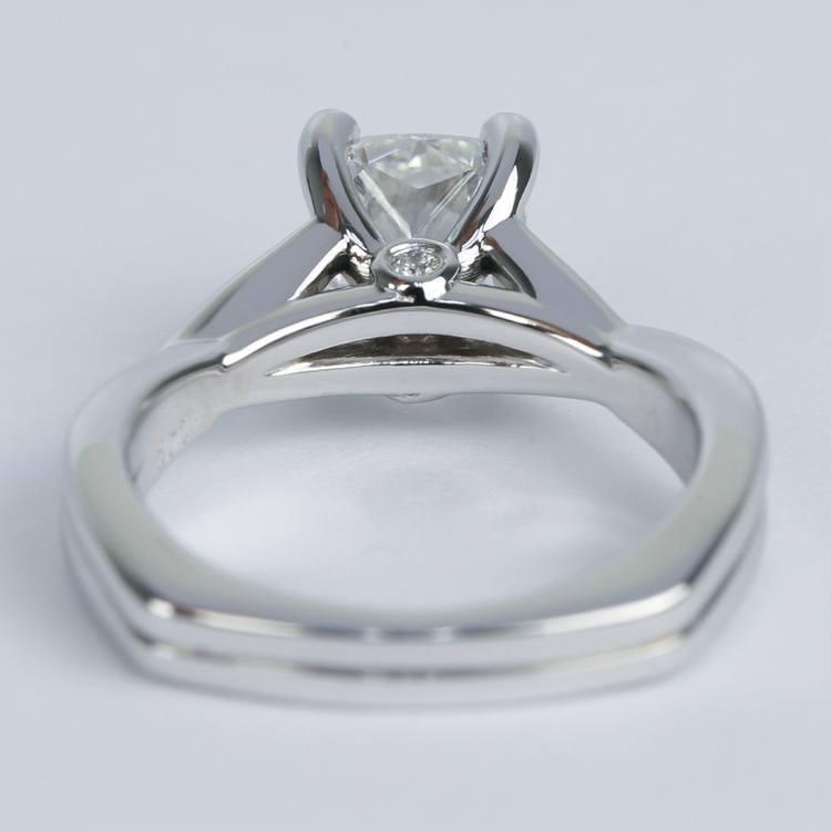 Twisted Split Shank Cushion Diamond Engagement Ring (1 Carat) angle 4
