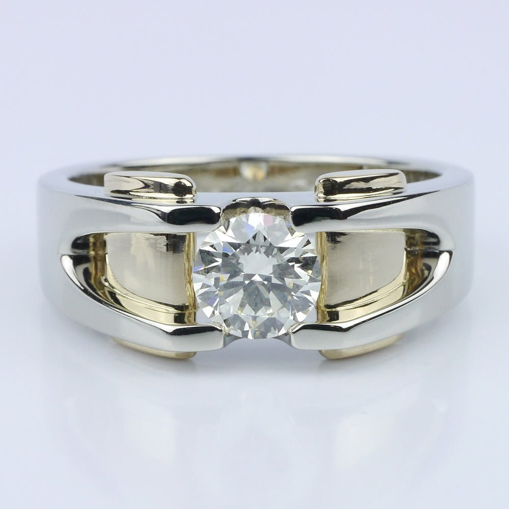 Custom Two Tone 14k Men S Wedding Ring