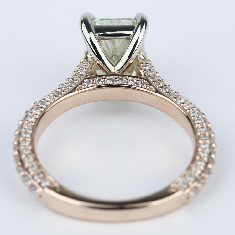 Radiant Diamond Engagement Ring in Rose Gold & Platinum angle 4