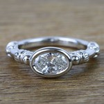 Custom Vintage 0.90 Carat Oval Diamond Engagement Ring - small