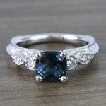 Custom Vintage London Blue Topaz Engagement Ring - small