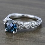 Custom Vintage London Blue Topaz Engagement Ring - small angle 2