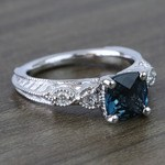 Custom Vintage London Blue Topaz Engagement Ring - small angle 3