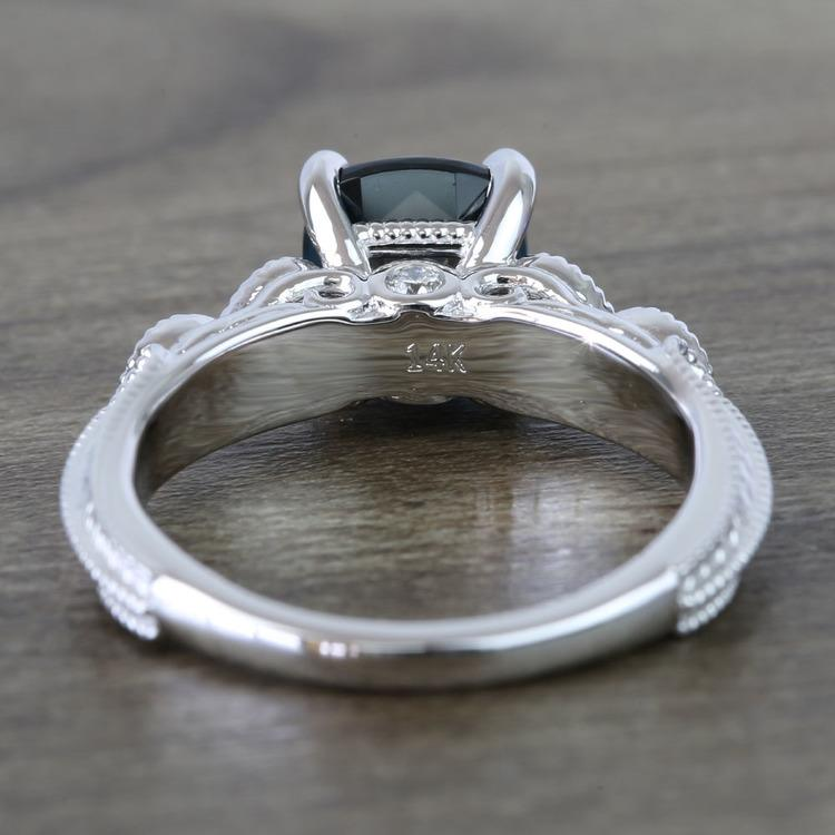 Custom Vintage London Blue Topaz Engagement Ring angle 4