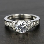 Custom Vintage Pave Diamond Engagement Ring (0.96 ct.) - small