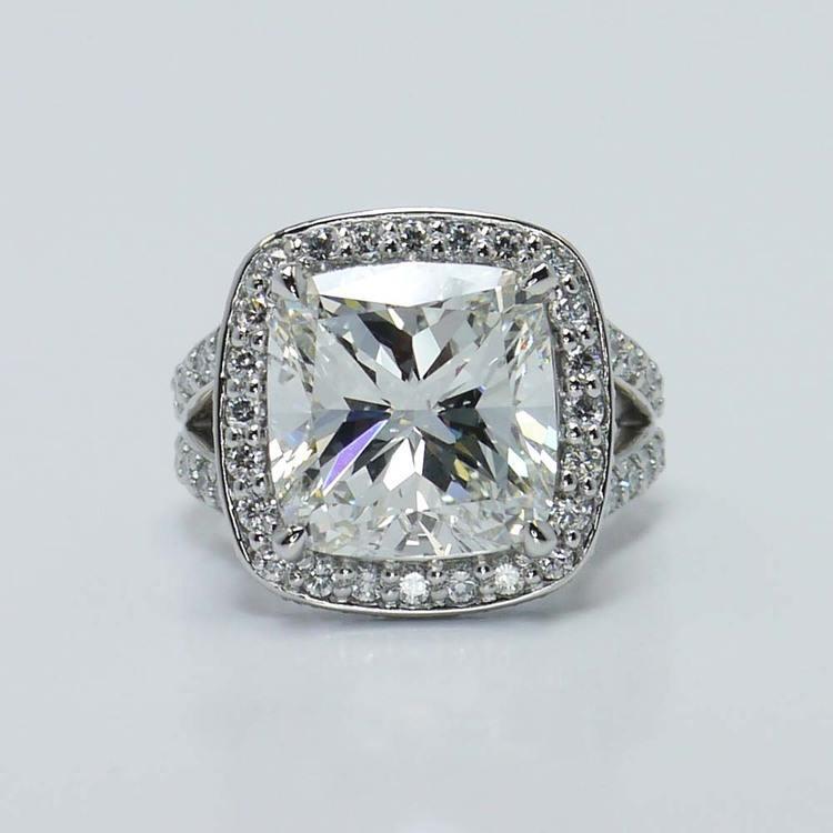 Cushion Custom Vintage Halo Diamond Ring (1.52 Carat)