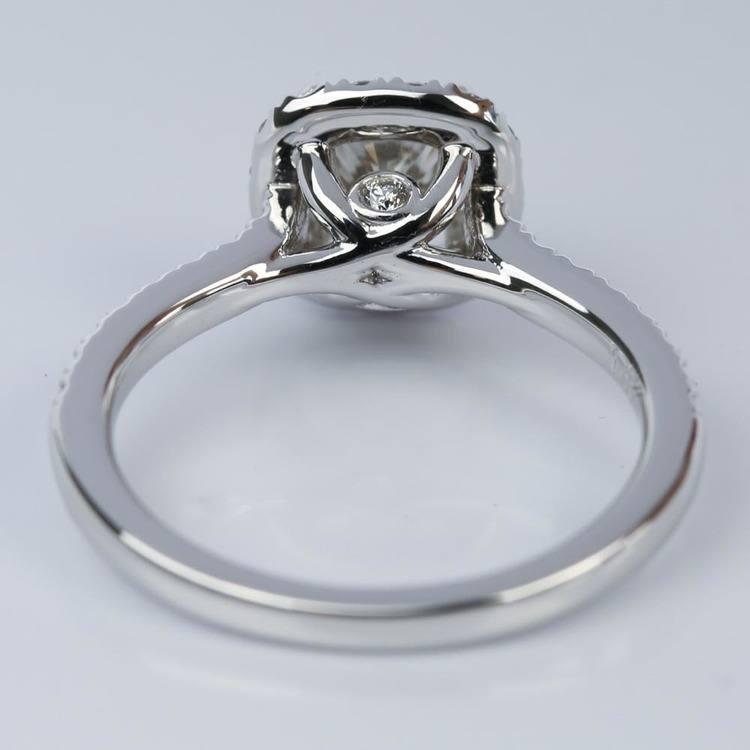 Custom Micropave Cushion Diamond Engagement Ring (0.81 ct.) angle 4