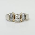 Custom Art Deco Radiant Diamond Engagement Ring - small