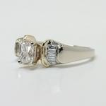 Custom Art Deco Radiant Diamond Engagement Ring - small angle 2