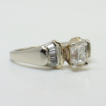 Custom Art Deco Radiant Diamond Engagement Ring - small angle 3