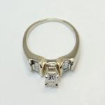 Custom Art Deco Radiant Diamond Engagement Ring - small angle 4