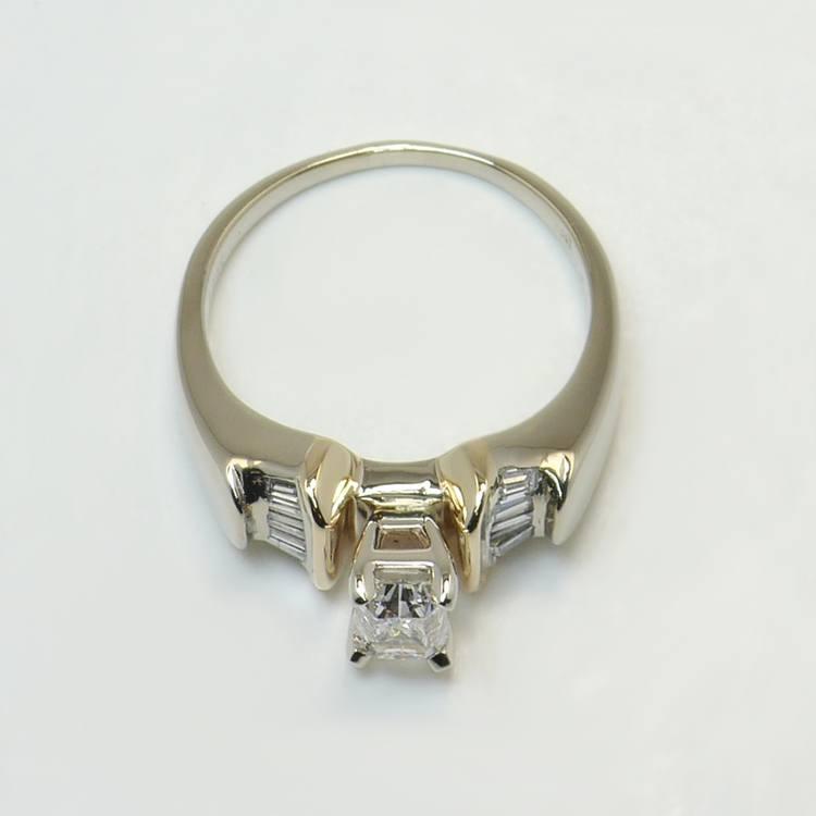 Custom Art Deco Radiant Diamond Engagement Ring angle 4