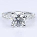 Customized U-Prong Round Diamond Ring (2.80 ct.) - small