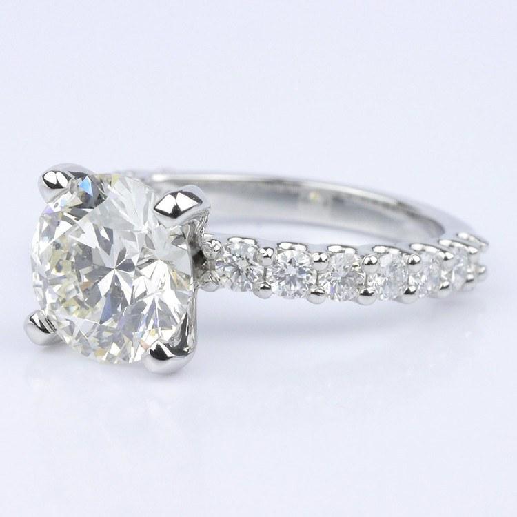 Customized U-Prong Round Diamond Ring (2.80 ct.) angle 2