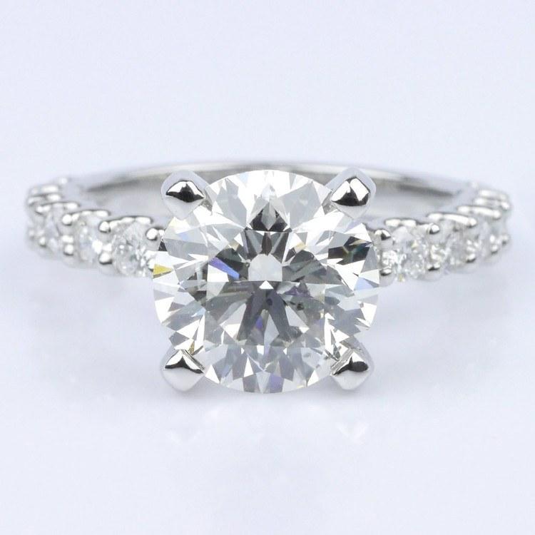 Customized U-Prong Round Diamond Ring (2.80 ct.)