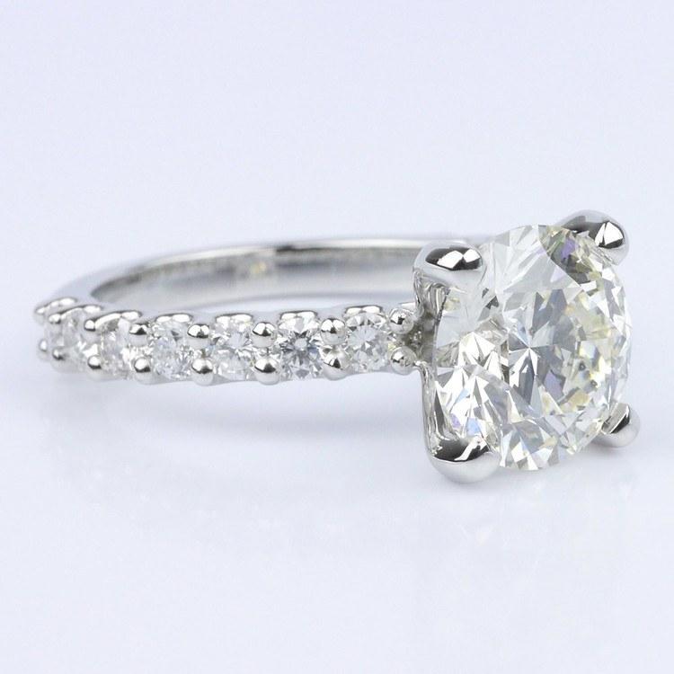 Customized U-Prong Round Diamond Ring (2.80 ct.) angle 3