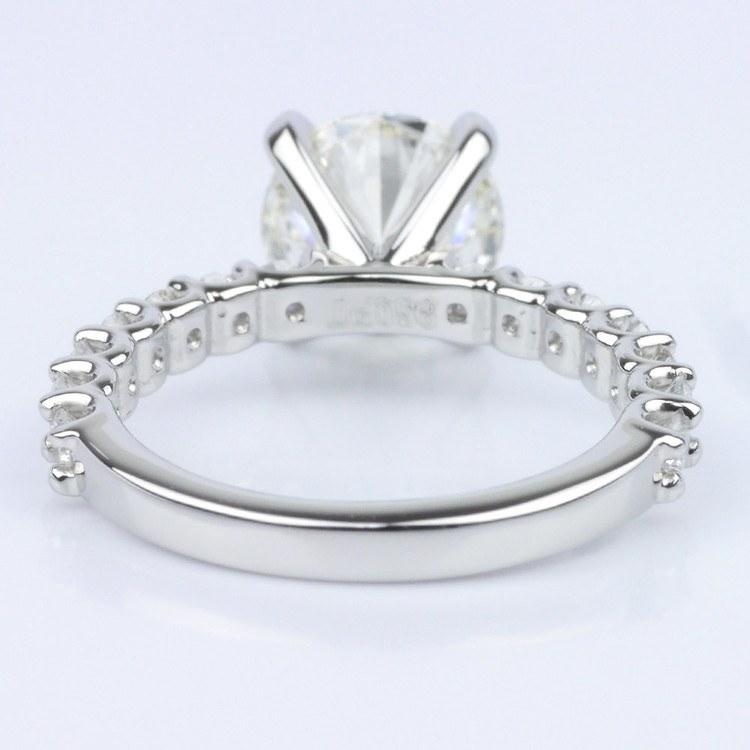 Customized U-Prong Round Diamond Ring (2.80 ct.) angle 4