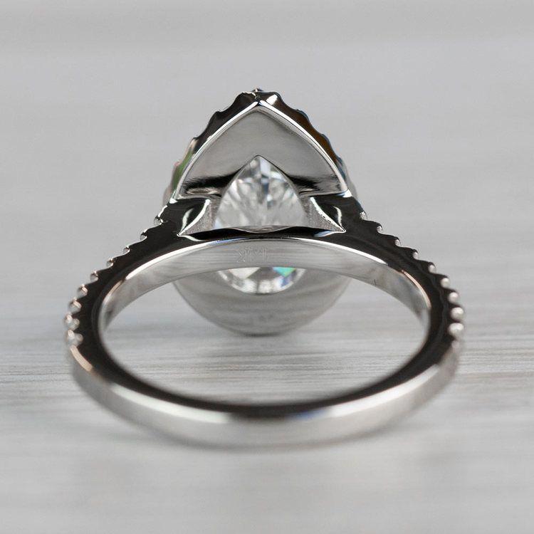 Dazzling Halo Engagement Pear Shaped Diamond Ring angle 4