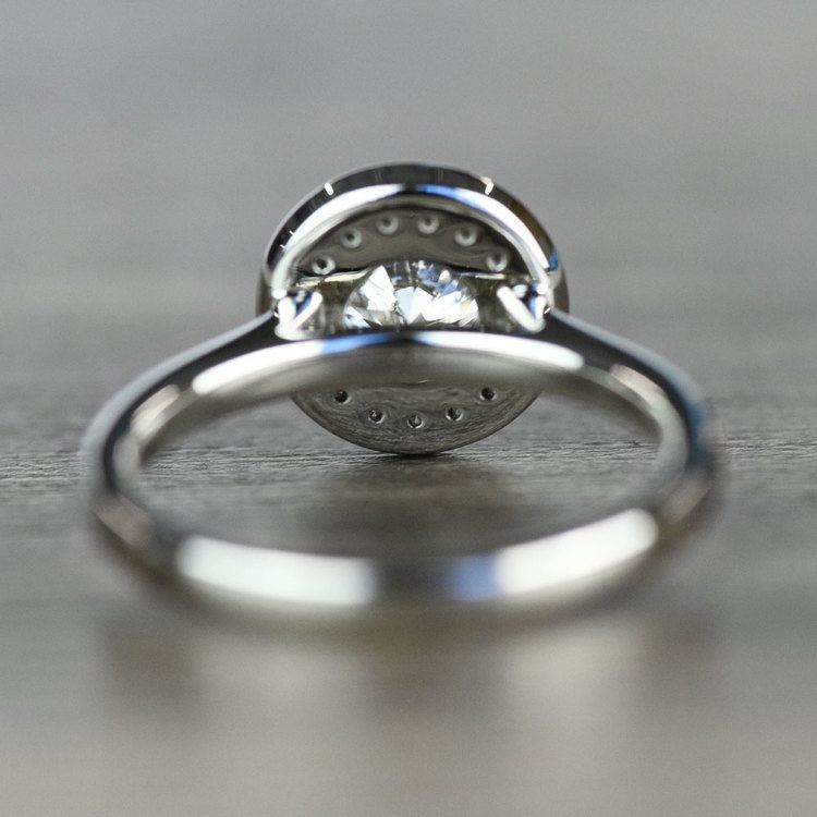 Dazzling Round Halo Engagement Ring In White Gold angle 4