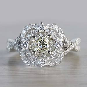 Delicate Double Halo 1 Carat Diamond Ring by Parade
