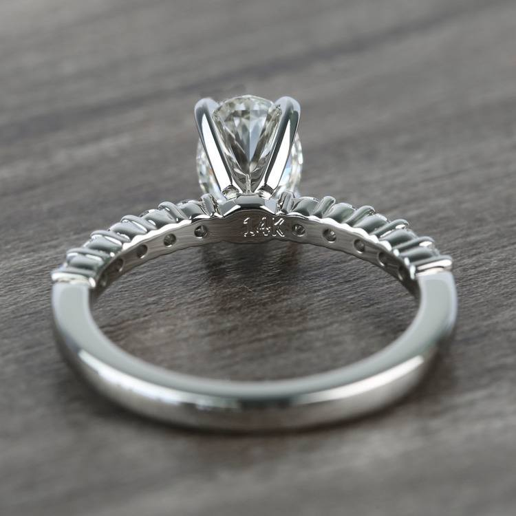 Delicate Shared-Prong 0.72 Carat Oval Diamond Engagement Ring angle 4