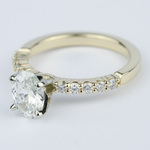 Delicate Shared-Prong 0.90 Carat Oval Diamond Engagement Ring - small angle 2