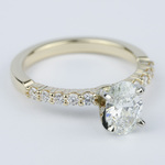 Delicate Shared-Prong 0.90 Carat Oval Diamond Engagement Ring - small angle 3