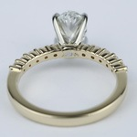 Delicate Shared-Prong 0.90 Carat Oval Diamond Engagement Ring - small angle 4