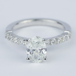 Delicate Shared-Prong 1.07 Carat Oval Diamond Engagement Ring - small