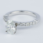 Delicate Shared-Prong 1.07 Carat Oval Diamond Engagement Ring - small angle 2