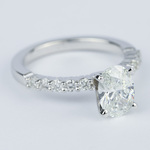 Delicate Shared-Prong 1.07 Carat Oval Diamond Engagement Ring - small angle 3