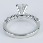 Delicate Shared-Prong 1.07 Carat Oval Diamond Engagement Ring - small angle 4